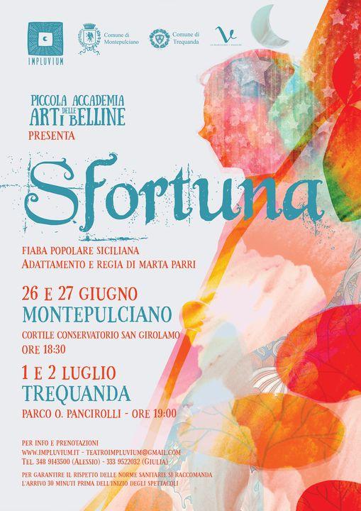 """Provincia di Siena: Weekend teatrale a Montepulciano con lo spettacolo""""Sfortuna"""""""