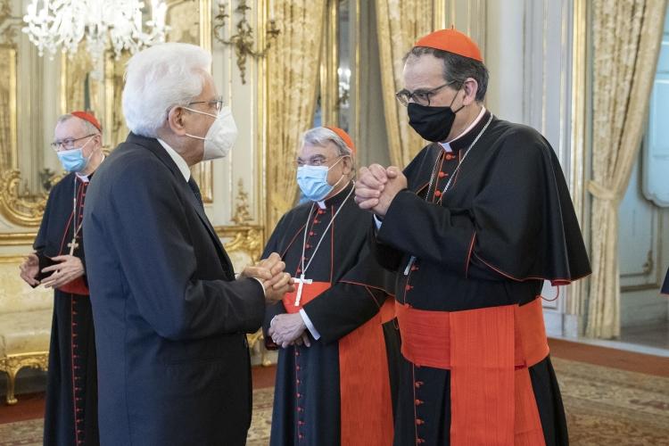 Siena: Il Cardinale Augusto Paolo Lojudice incontraMattarella