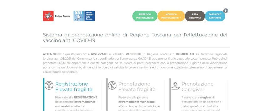 Toscana: Oggi 21/06 sul protale prenota vaccino bloccate le prenotazioni, i last minute e li anticipi seconda dose per gli under60