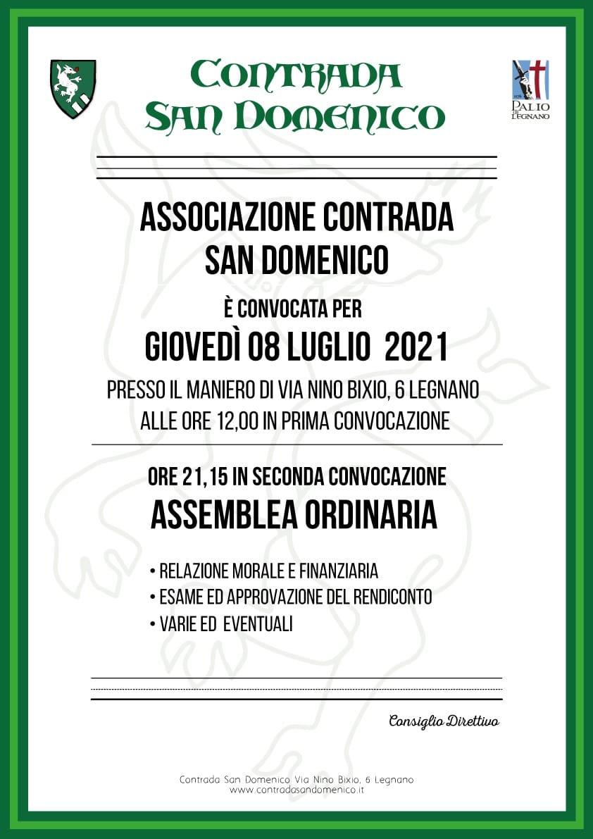 Palio di Legnano, Contrada San Domenico: 08/07 Assembleaordinaria