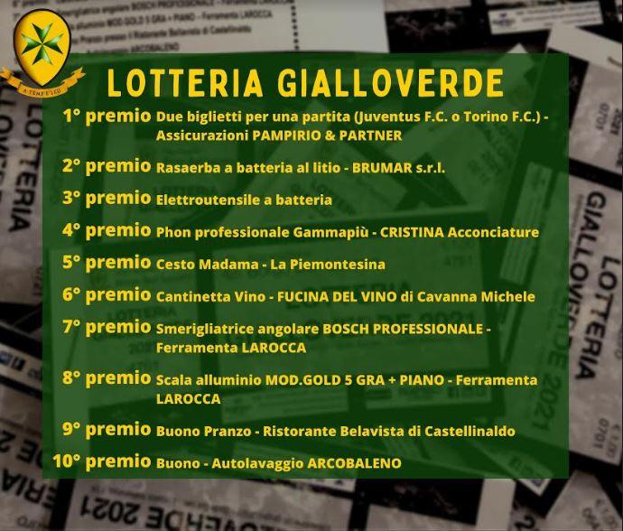 Palio di Asti., Comitato Palio Borgo San Lazzaro: Estrazione Lotteria2021