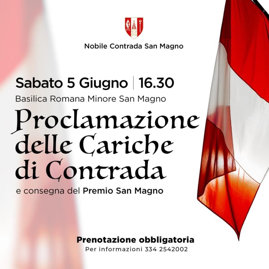 Palio di Legnano, Contrada San Magno; 05/06 Cerimonia di proclamazione delle cariche diContrada
