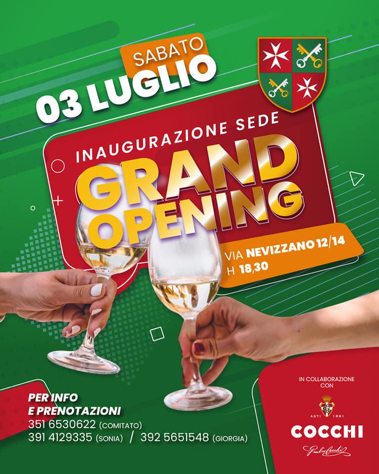 Palio di Asti, Comitato Palio Borgo San Pietro: 03/07 Grande Aperitivo di inaugurazione nuova sede ecenino