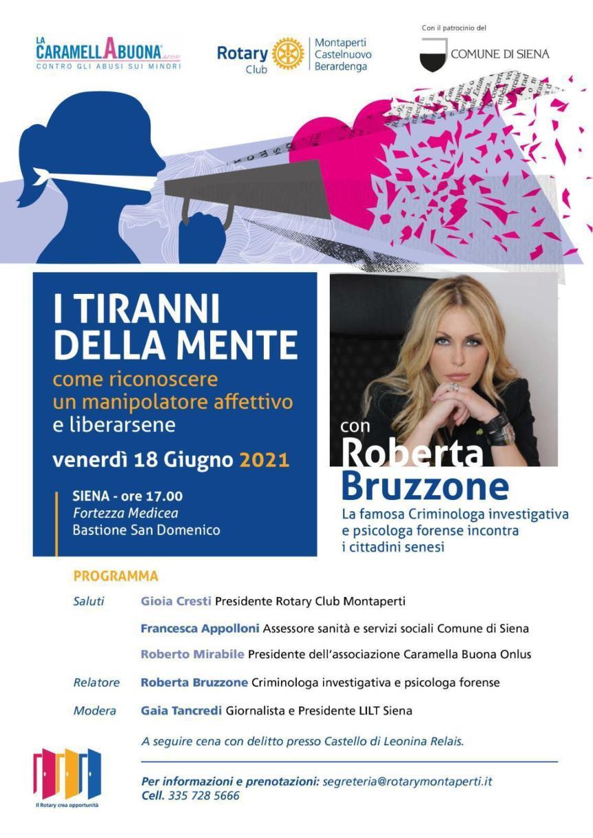 """Siena, """"I tiranni della mente"""": La criminologa Roberta Bruzzone presenta il suo nuovolibro"""