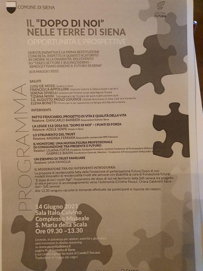 """Siena, Il """"Dopo di Noi"""", Lusini (Fondazione Futura): """"Ecco come garantire un futuro alle persone condisabilità"""""""