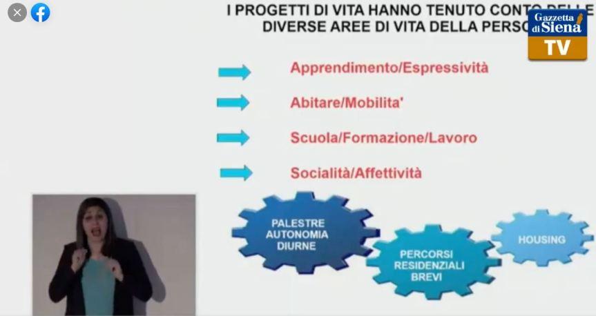 """Siena, """"Il Dopo di Noi"""" nelle Terre di Siena:  Gli interventi del sindaco Luigi De Mossi e dell'assessore FrancescaAppolloni"""