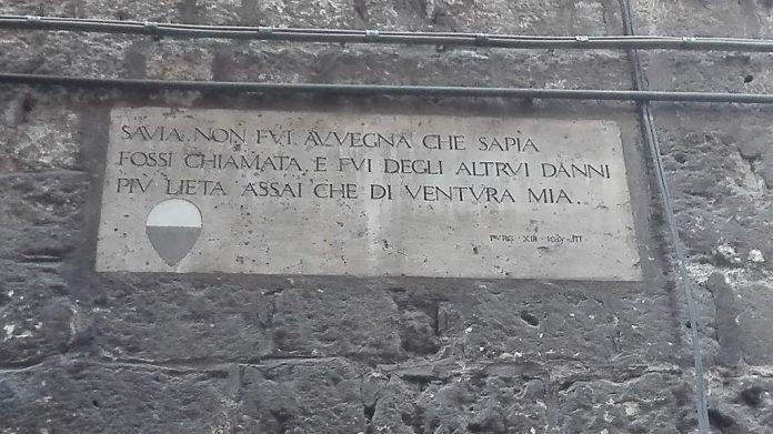 Siena: Lapidi di Dante, non solo restauro: pronti anche itinerarituristici