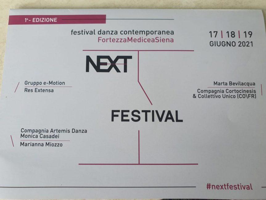 Siena: Arriva Next, il festival di danza contemporanea all'interno diViviFortezza!