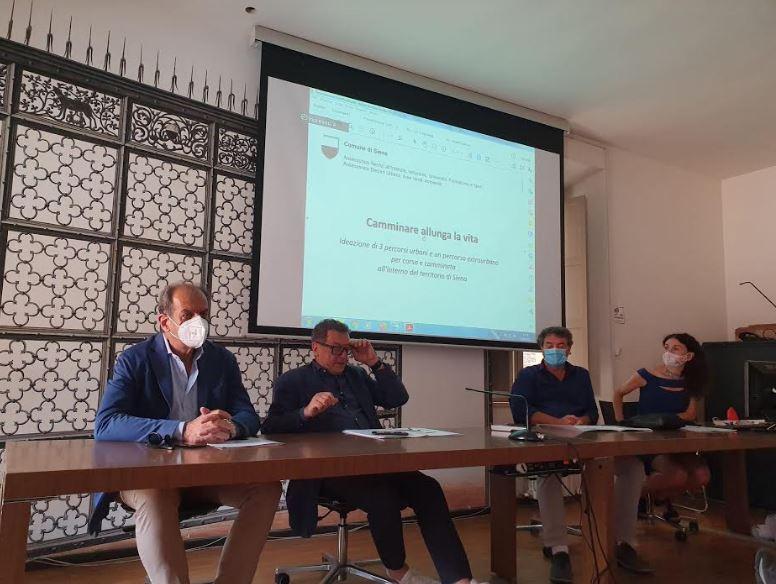 """Siena: Presentato oggi in conferenza stampa il progetto comunale: """"Camminare allunga lavita"""""""