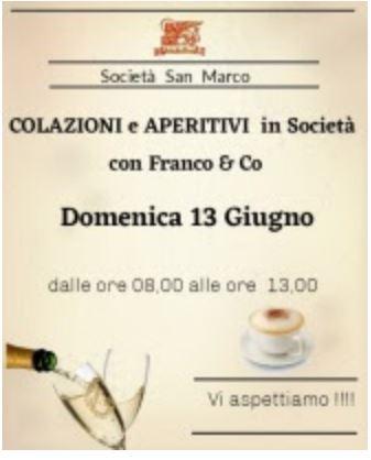 Siena, Contrada della Chiocciola: 13/06 Colazioni e aperitivi inSocietà