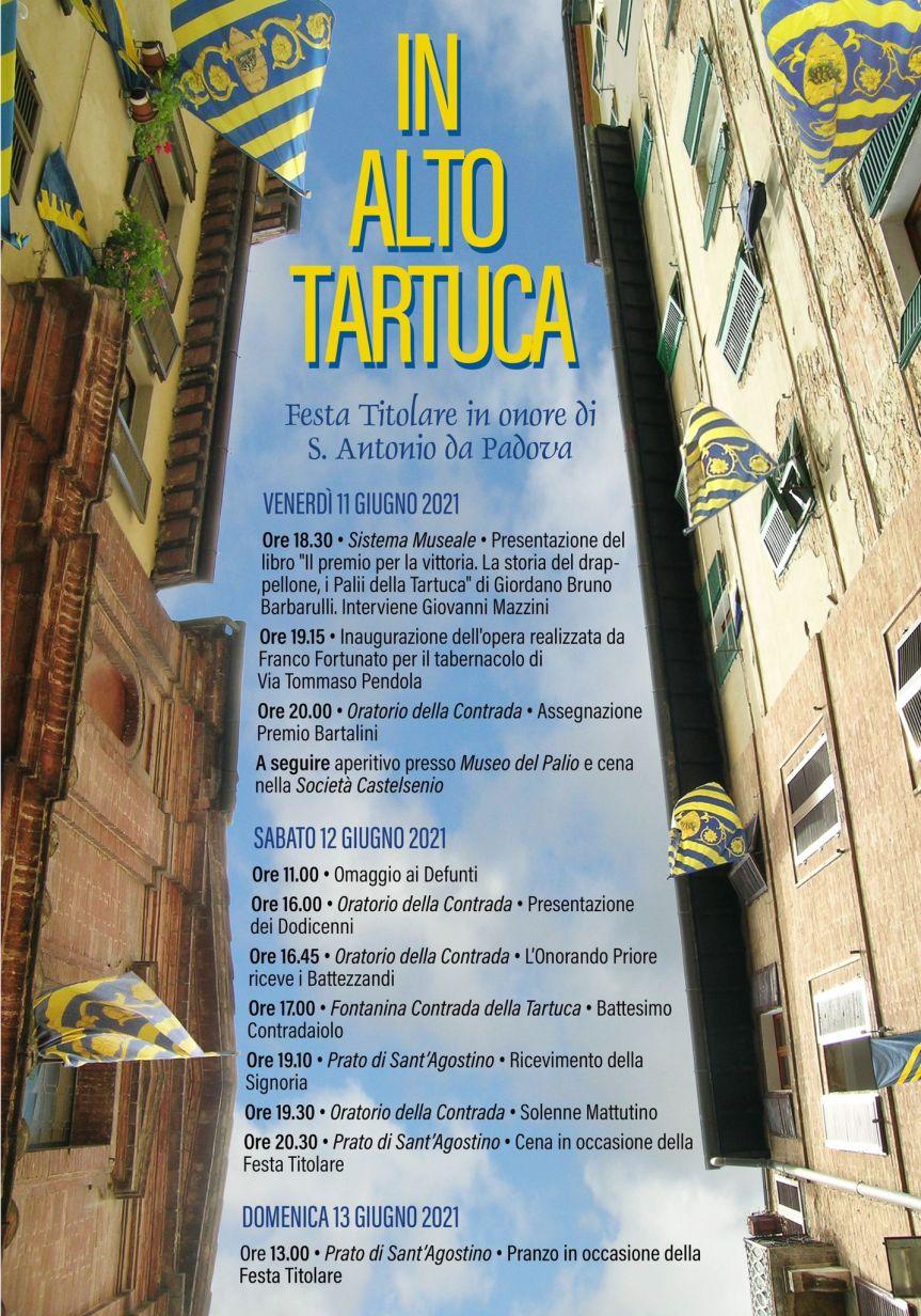 Siena, Contrada della Tartuca: 11-12-13/06 Programma FestaTitolare
