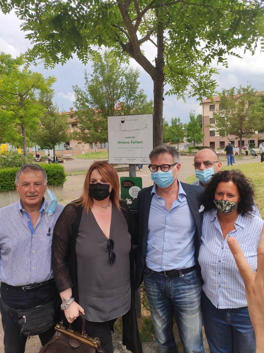 Siena: Il pensiero del Sindaco De Mossi sull'intitolazione del giardino a Taverne d'Arbia a OrianaFallaci