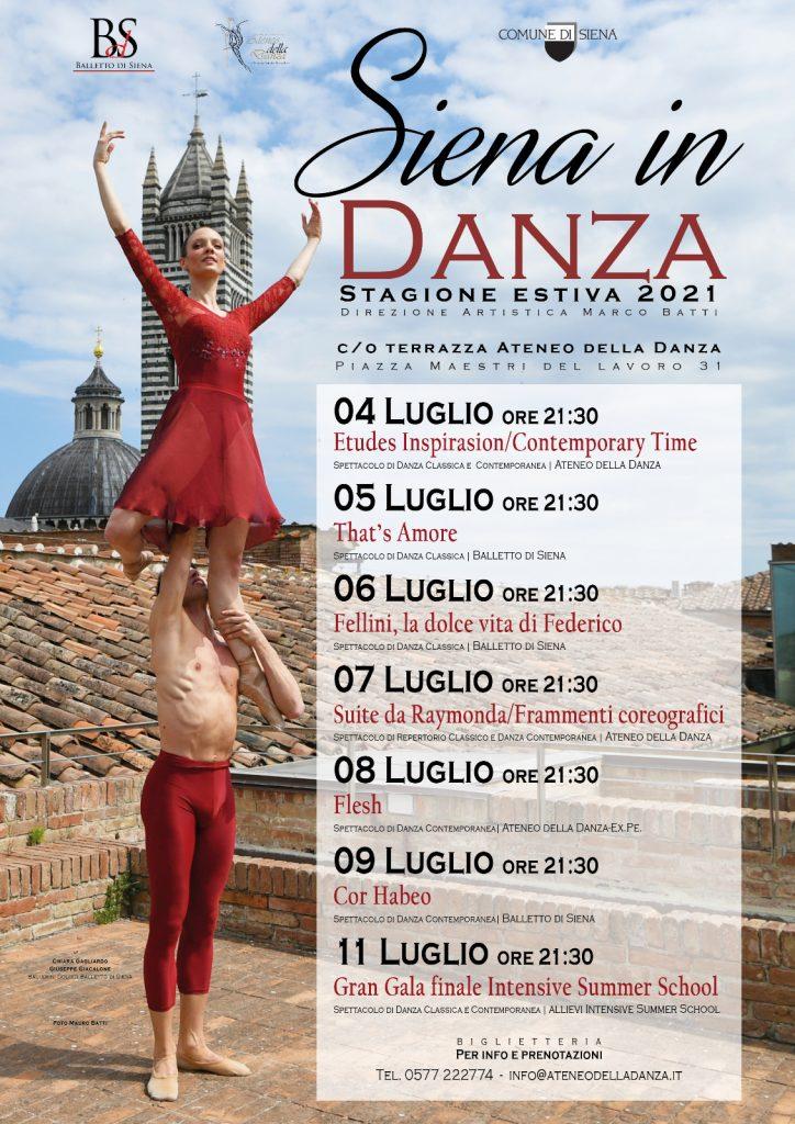 """Siena: Arriva """"Siena in Danza"""" dal 4 all'11luglio"""