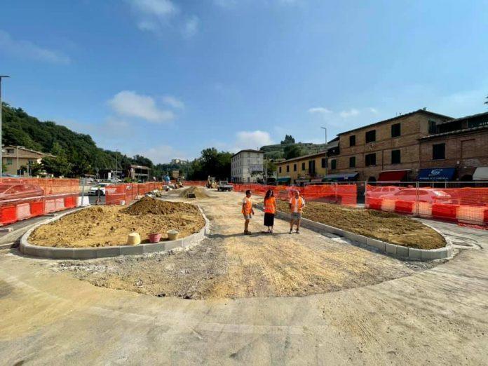 Siena: Colonna San Marco, proseguono senza ritardi i lavori del cantiere per i parcheggi nell'exdistributore