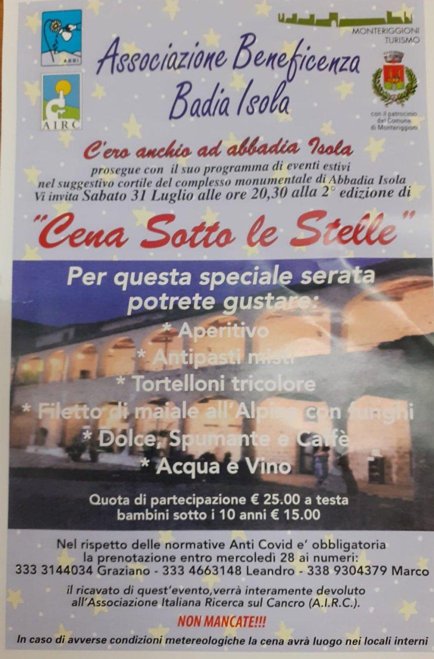 Provincia di Siena: Una cena per lasolidarietà