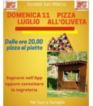 Siena, Contrada della Chiocciola: 11/07 Pizza all'Oliveta