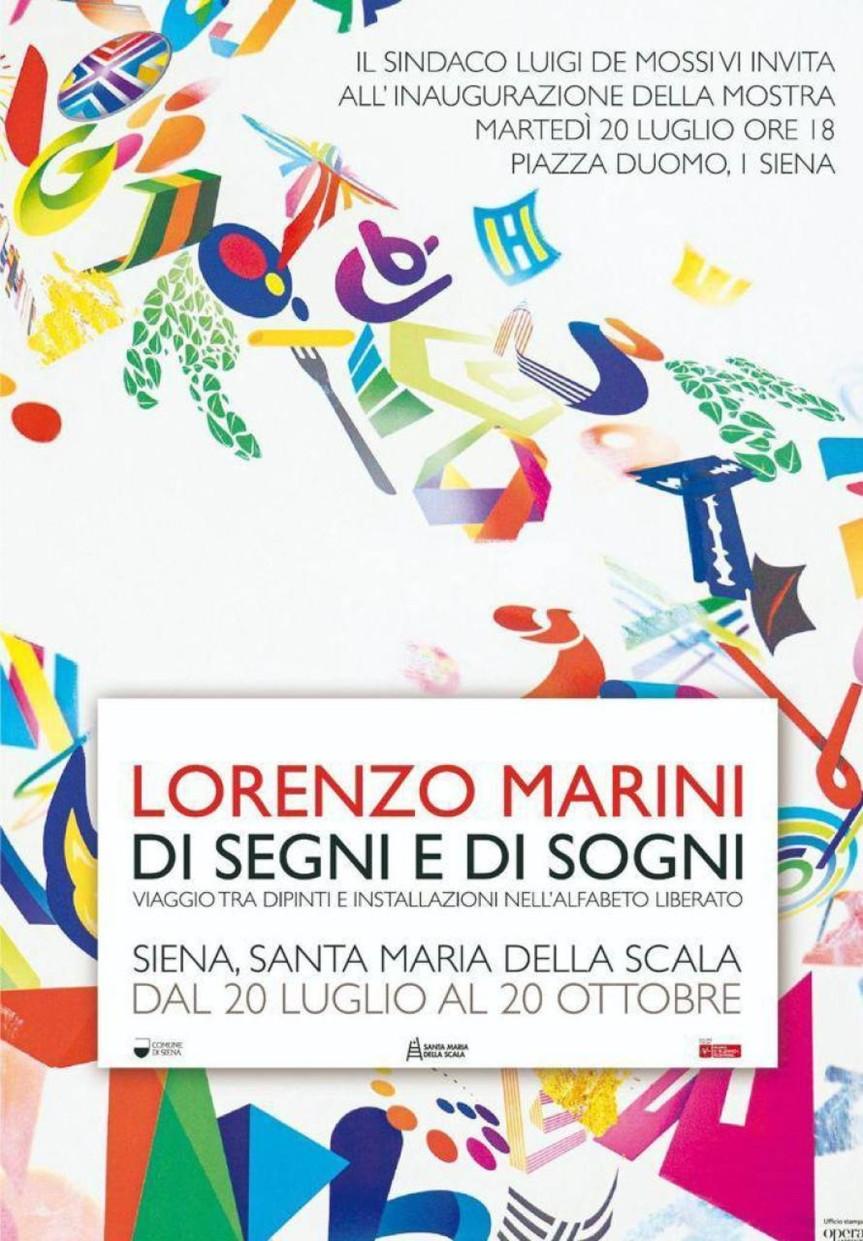 """Siena: Al Santa Maria della Scala il primo fine settimana della mostra """"Di Segni e Di Sogni"""" di LorenzoMarini"""