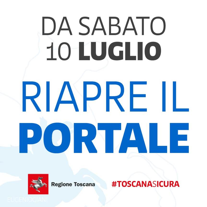 Toscana: Sabato 10/07 riapre il portale prenotazionevaccini