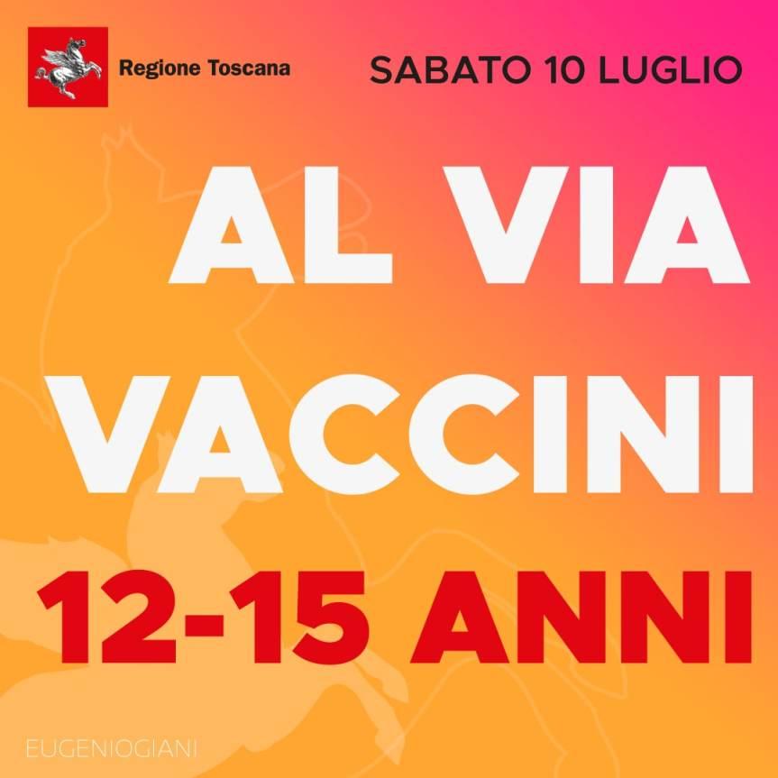 Toscana: Domani 10/07 parte prenotazione vaccini 12-15 anni e le altre fasce dietà