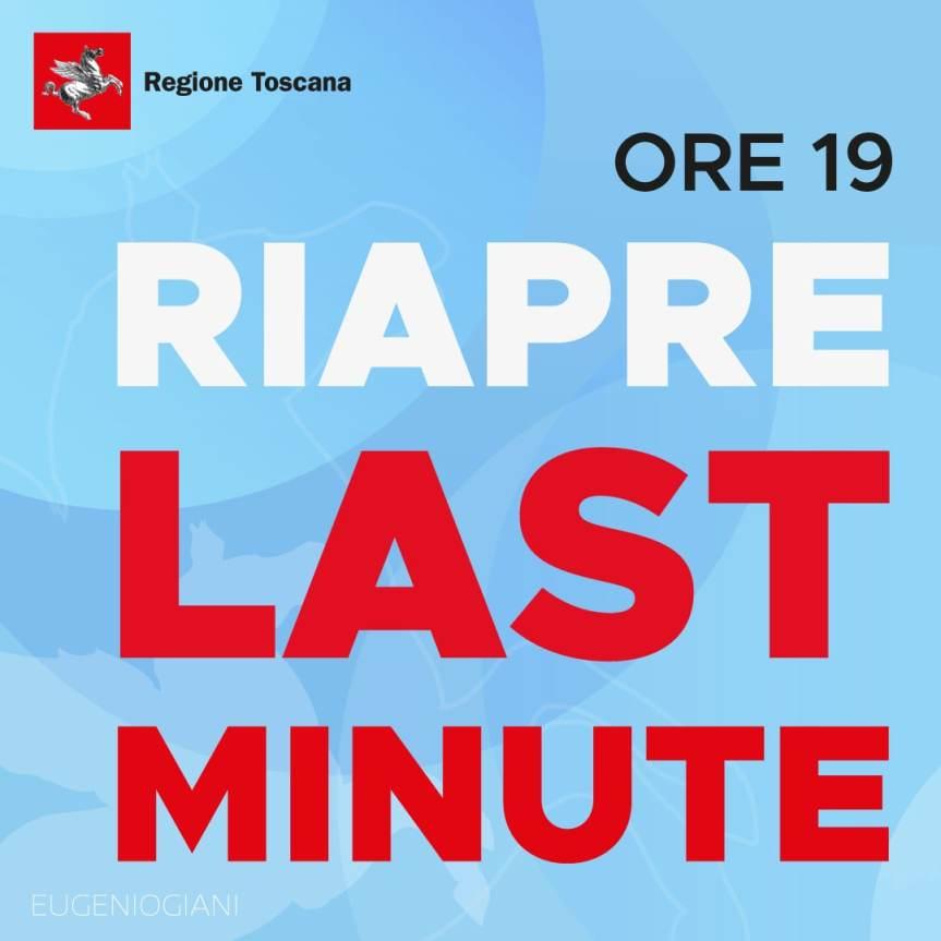 Toscana, Covid-19, anticipo per le prenotazioni 'last minute': Si parte da stasera21/07
