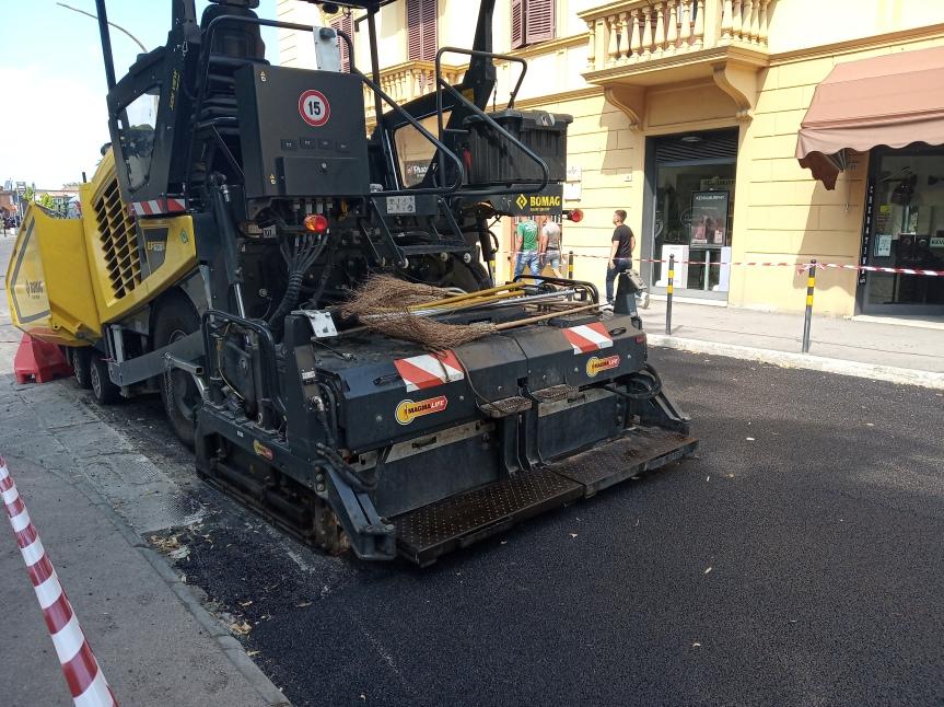 Siena: Conclusi in anticipo lavori di asfaltatura in zona Fortezza e fuori portaCamollia