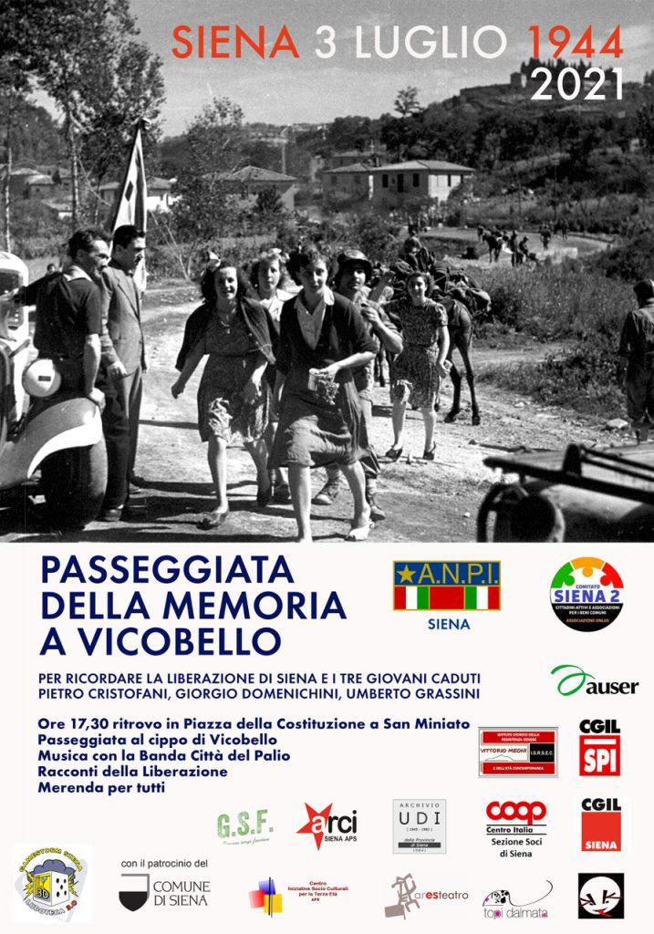 Siena: VII° Passeggiata della memoria aVicobello