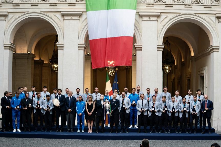Italia: Gli Azzurri e Matteo Berrettini a PalazzoChigi