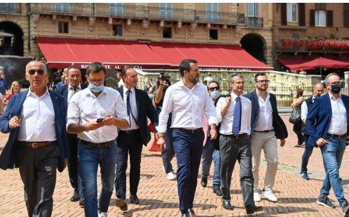 """Siena, Salvini su Mps: """"No alla svendita, faremo di tutto per evitare che salti un solo posto dilavoro"""""""