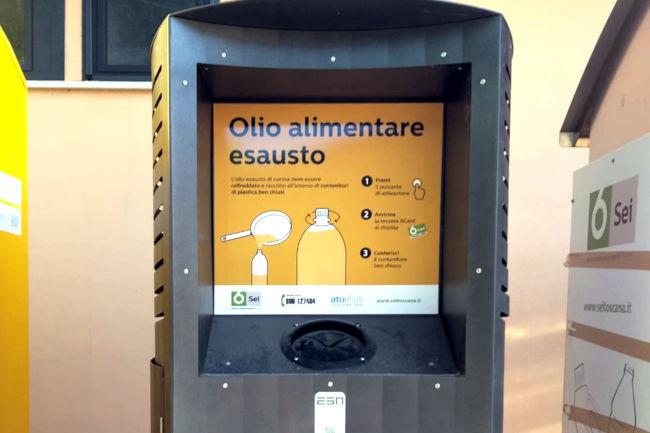 Provincia di Siena: A Sovicille quattro nuove postazioni per la raccolta dell'olio alimentareesausto