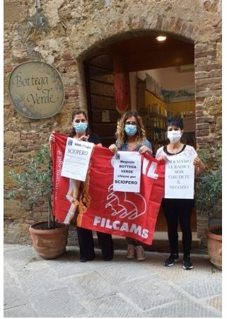 Provincia di Siena: Oggi 17/07 primo sciopero lavoratrici Bottega Verde diPienza