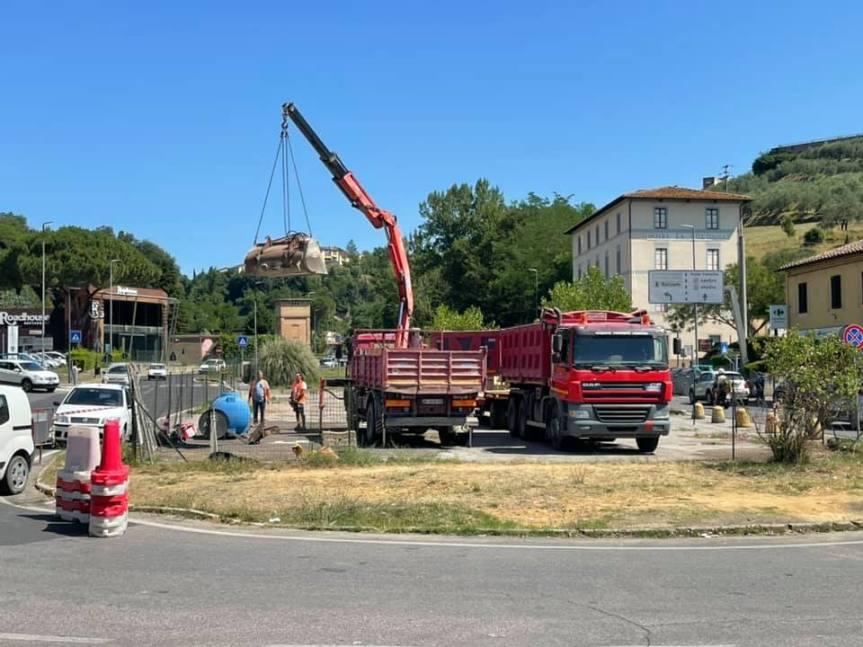 Siena: Colonna San Marco, via al cantiere per i parcheggi nell'exdistributore