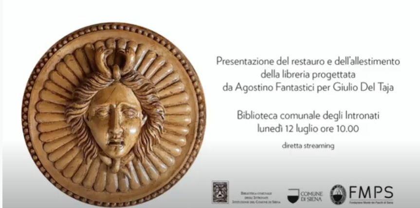 Siena: Presentazione restauro e allestimento libreria DelTaja