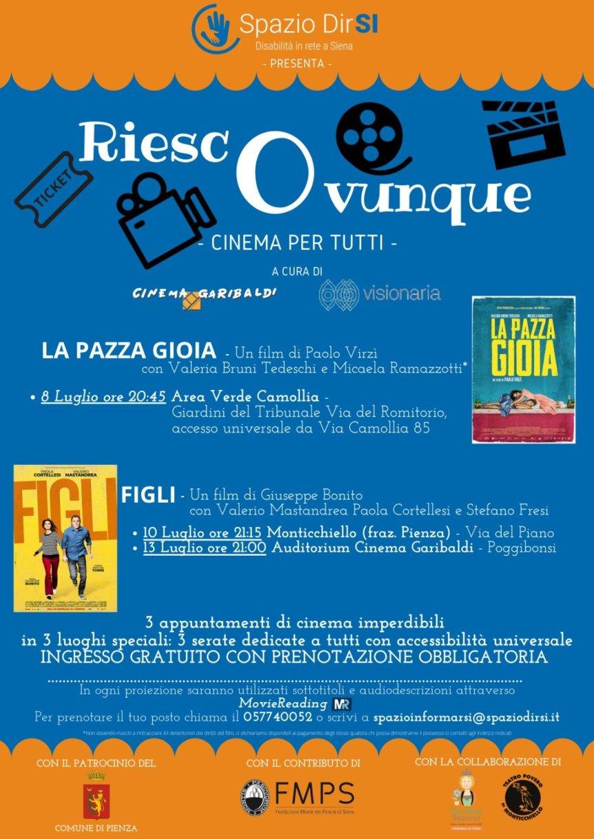 "Siena: Nella nostra città il cinema è per tutti grazie a""DirSI"""