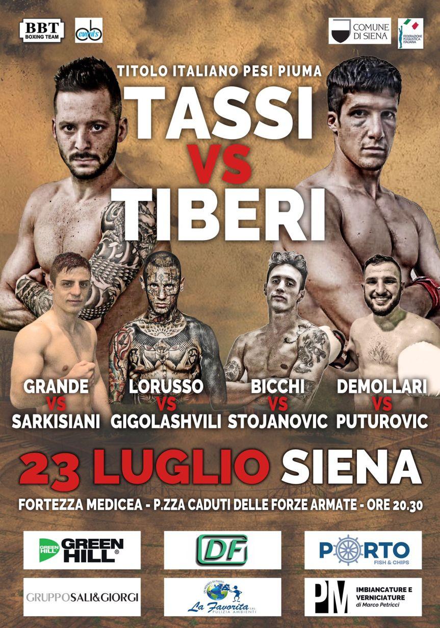 Titolo Italiano Pesi Piuma: Tassi vs Tiberi