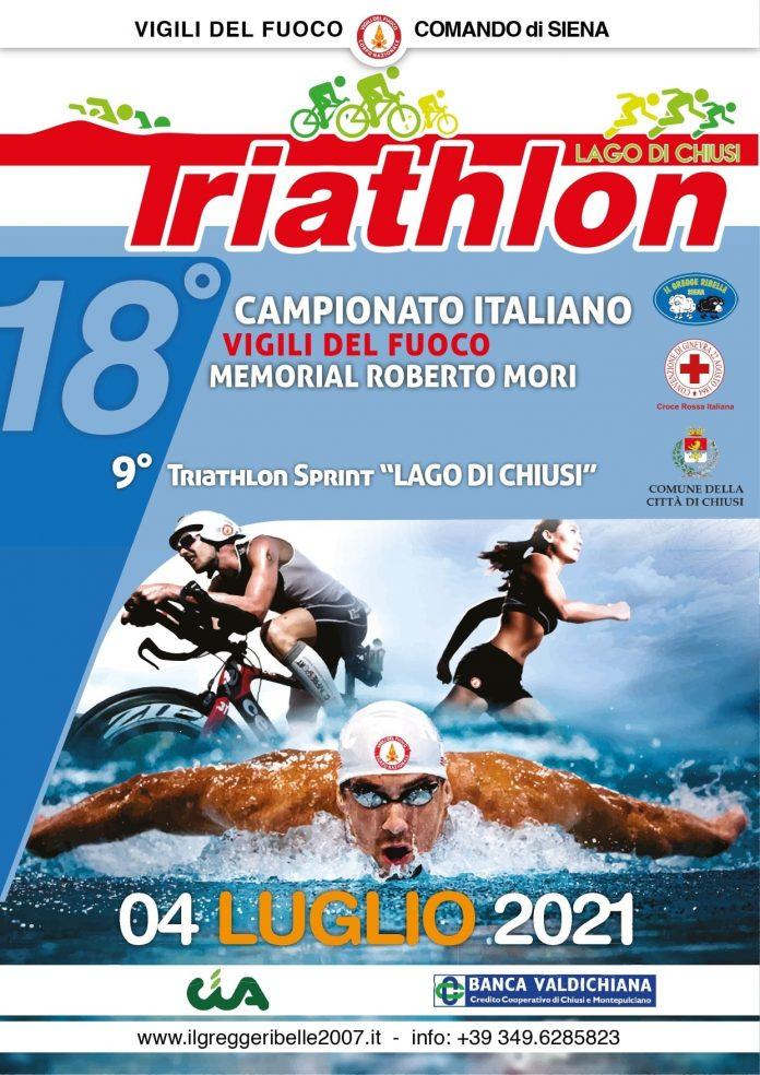 Provincia di Siena, Chiusi: Torna il Triathlon del Lago di Chiusi con la nona edizione e 18° campionato Italiano Vigili delFuoco