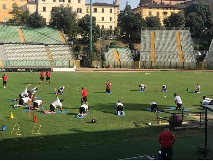 Siena, Acn Siena: Allenamento allo stadio, parla Pezzella, Caccavallo esamiok