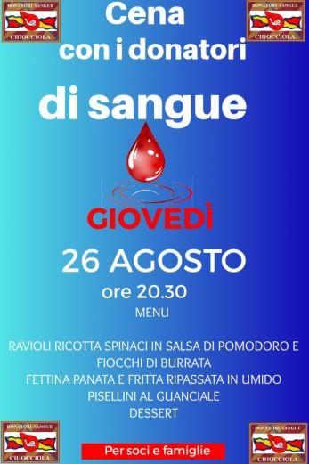 Siena, Contrada della Chiocciola: 26/08 Cena con il Gruppo Donatori diSangue