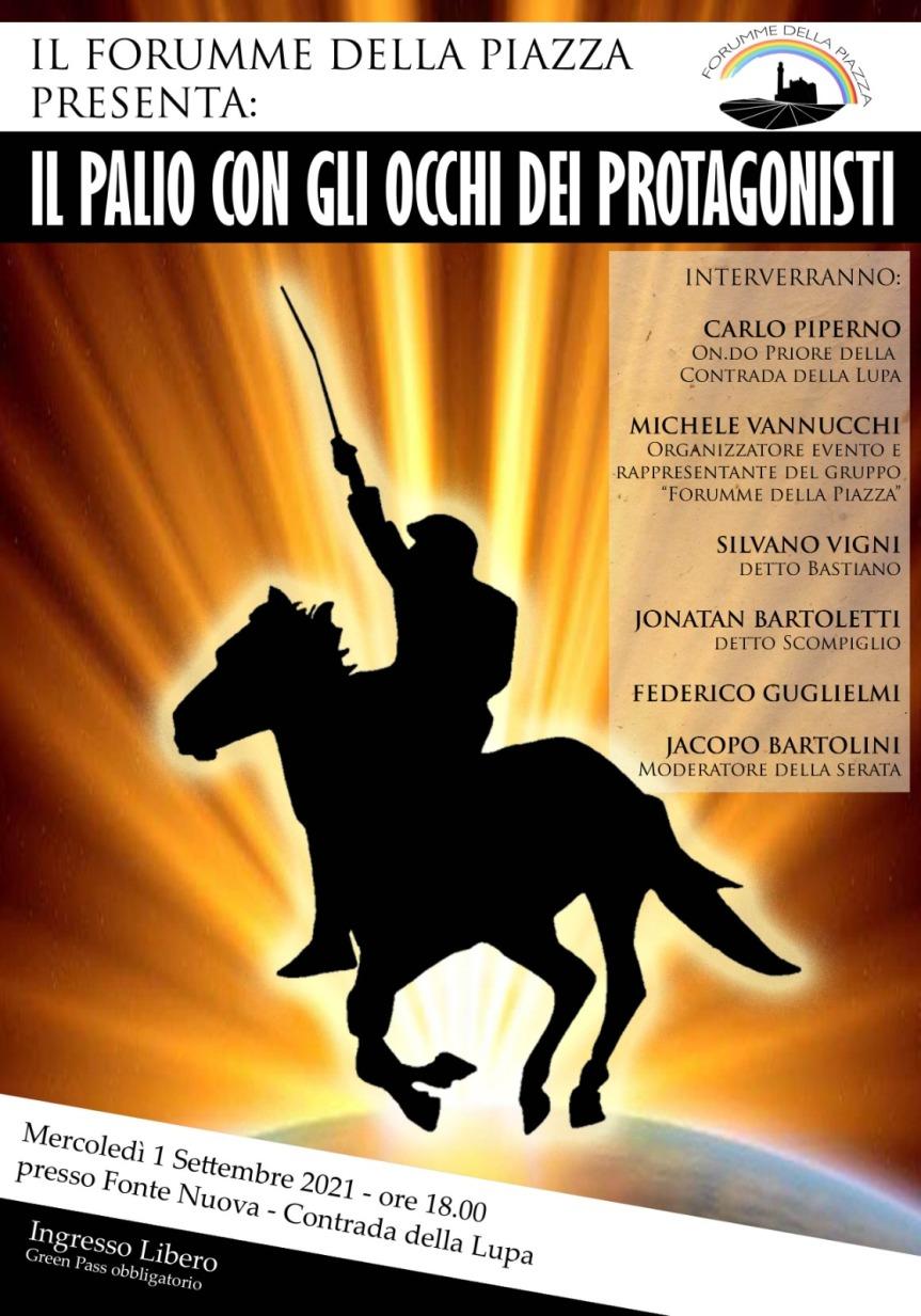 """Palio di Siena: 01/09 """"Il Palio con gli occhi dei protagonisti"""""""