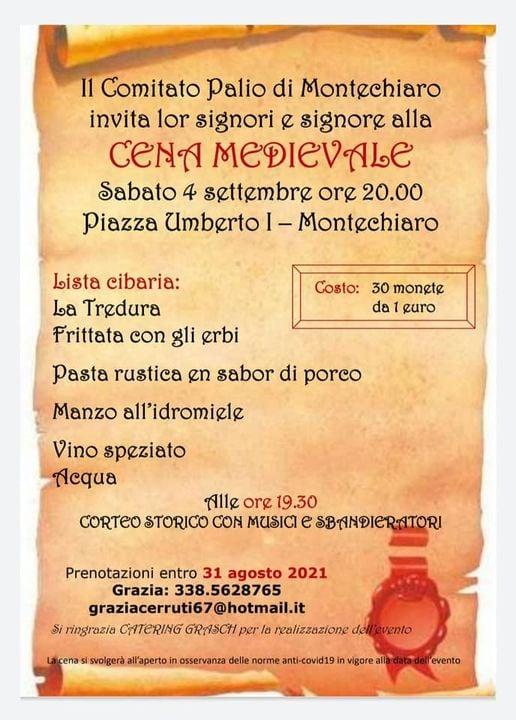 Palio di Asti, Comitato Palio Montechiaro: 04/09 CenaMedievale