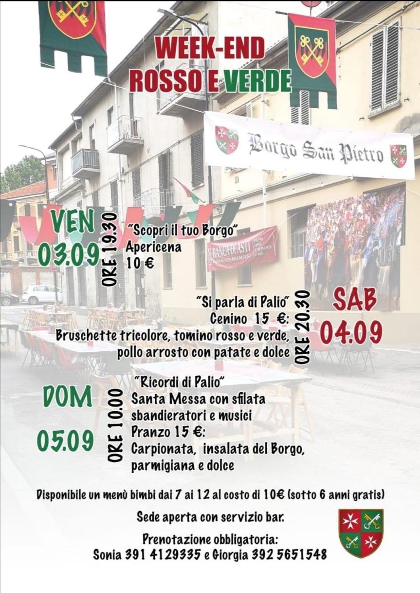 Palio di Asti, Comitato Palio Rione San Pietro: 03-04/09 Week End RossoVerde