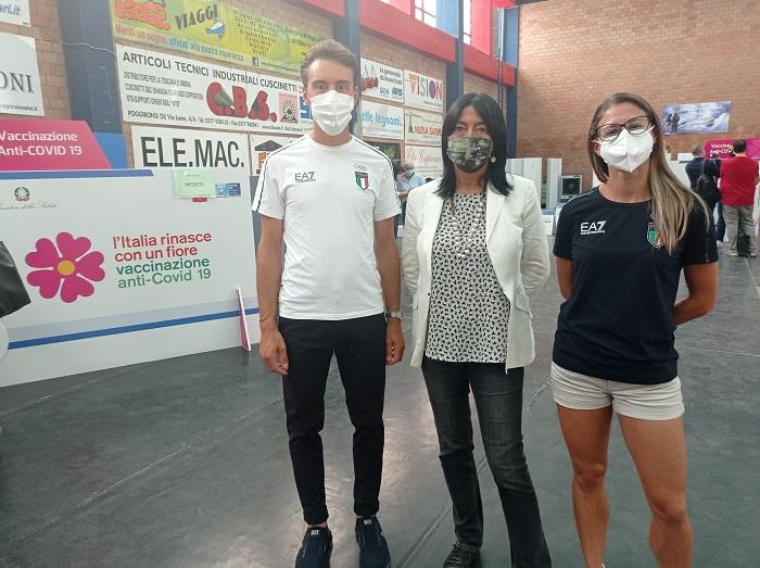 Provincia di Siena: Bettiol e Siragusa, la coppia olimpica sul parquet del Bernino per spingere lavaccinazione