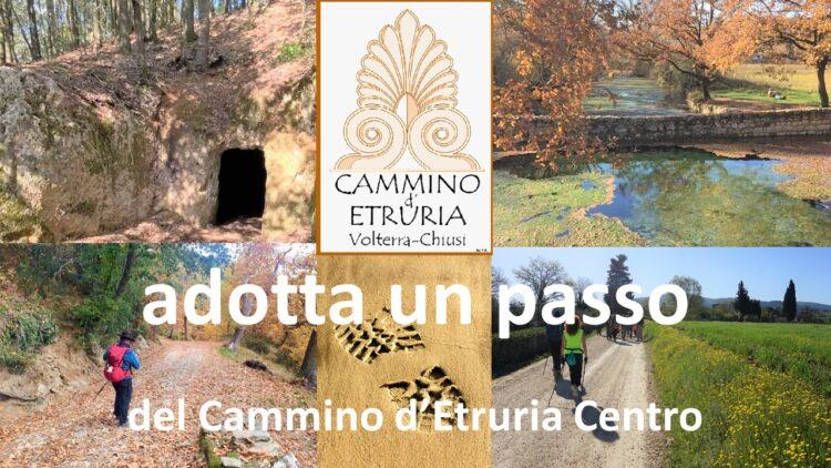 Provincia di Siena, Il Cammino d'Etruria da Volterra a Chiusi: Parte la campagnacrowdfunfing