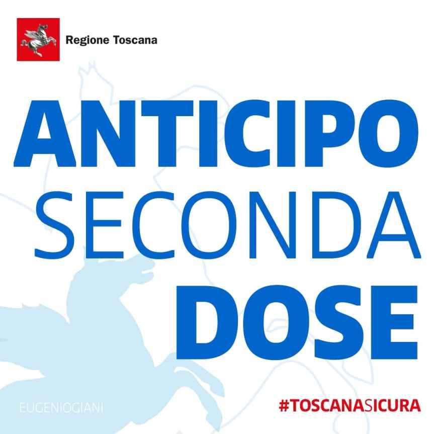 Toscana, Covid: Anticipo seconda dose, disponibili nuovedosi
