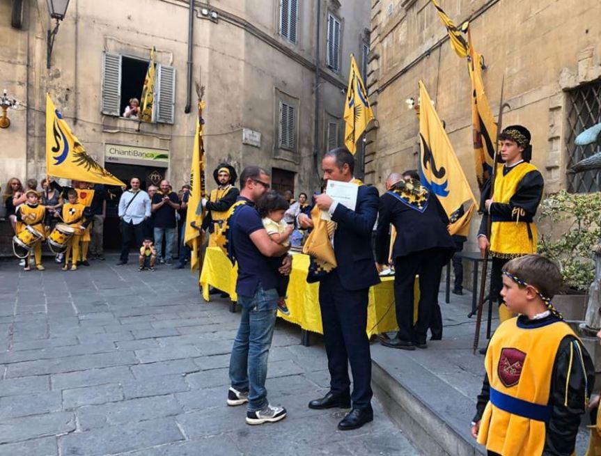 Siena, Contrada dell'Aquila: Ieri 11/09 21 nuovibattezzati