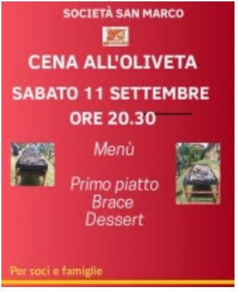 Siena, Contrada della Chiocciola: 11/09 Cena all'Oliveta