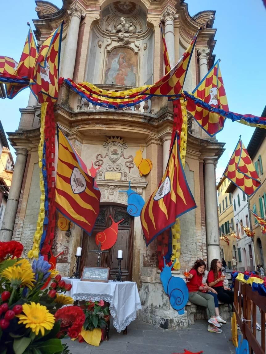 Siena, 8 settembre 2021: I tabernacoli dei piccoli delleContrade