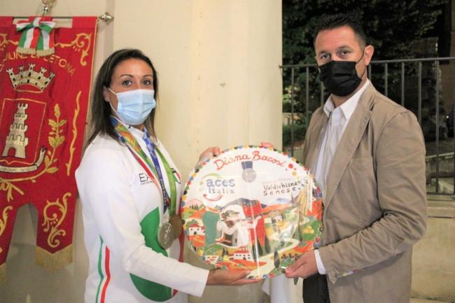 Provincia di Siena: Cetona ha onorato Dina Bacosi per la seconda medaglia olimpica conquistata aTokyo