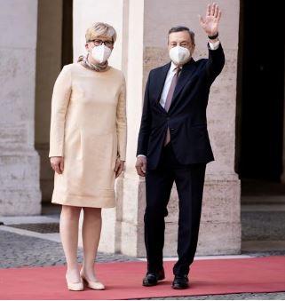 Italia: Il Presidente Draghi incontra la Primo Ministro della Repubblica diLituania