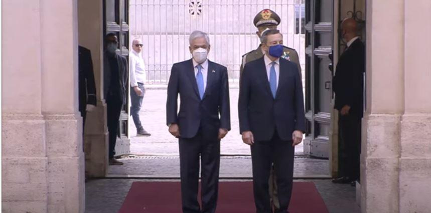 Italia: Draghi riceve il Presidente della Repubblica del Cile SebastianPiñera