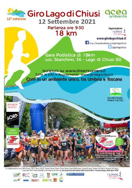 Provincia di Siena, Chiusi: Domani domenica 12 settembre la dodicesima edizione del Giro delLago